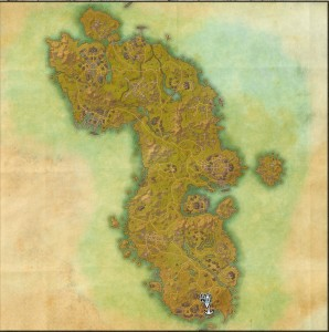 The maps of the Elder Scrolls Online - Auridon
