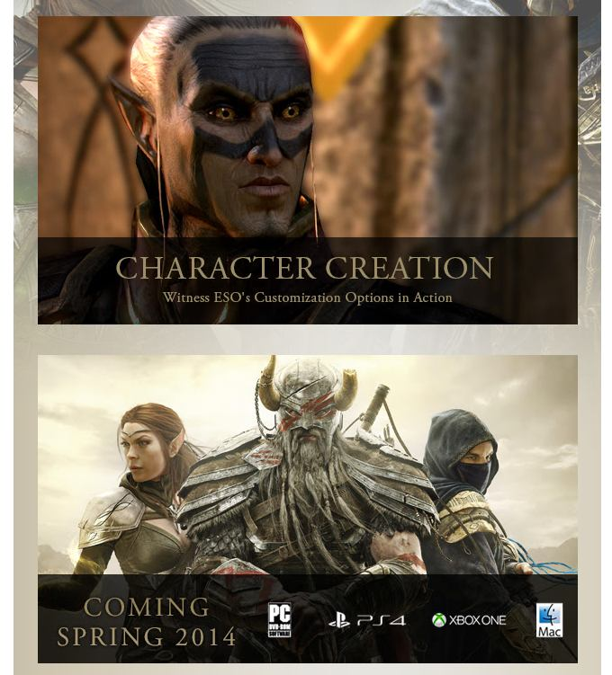 Elder Scrolls Online beta Character Creation Video Teaser