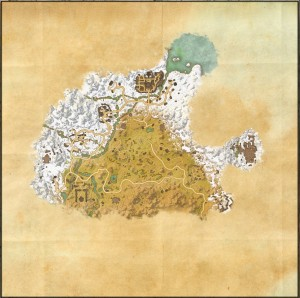 The maps of the Elder Scrolls Online - Eastmarch
