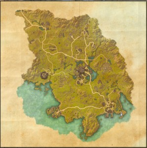 The maps of the Elder Scrolls Online - Grahtwood