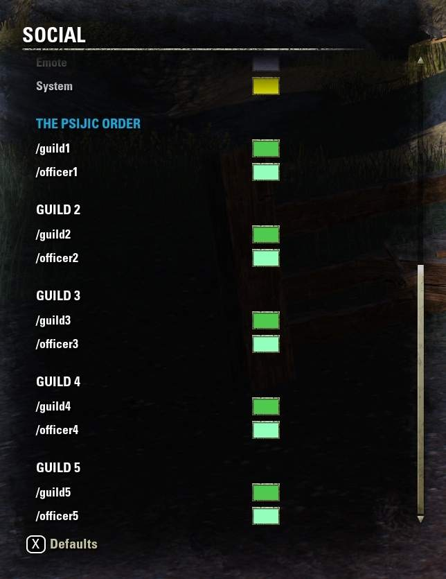 How to Use Chat in ESO - Guild list