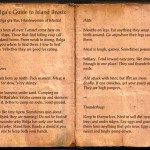 The Books of the Elder Scrolls Online - Bolga's Guide to Island Beasts