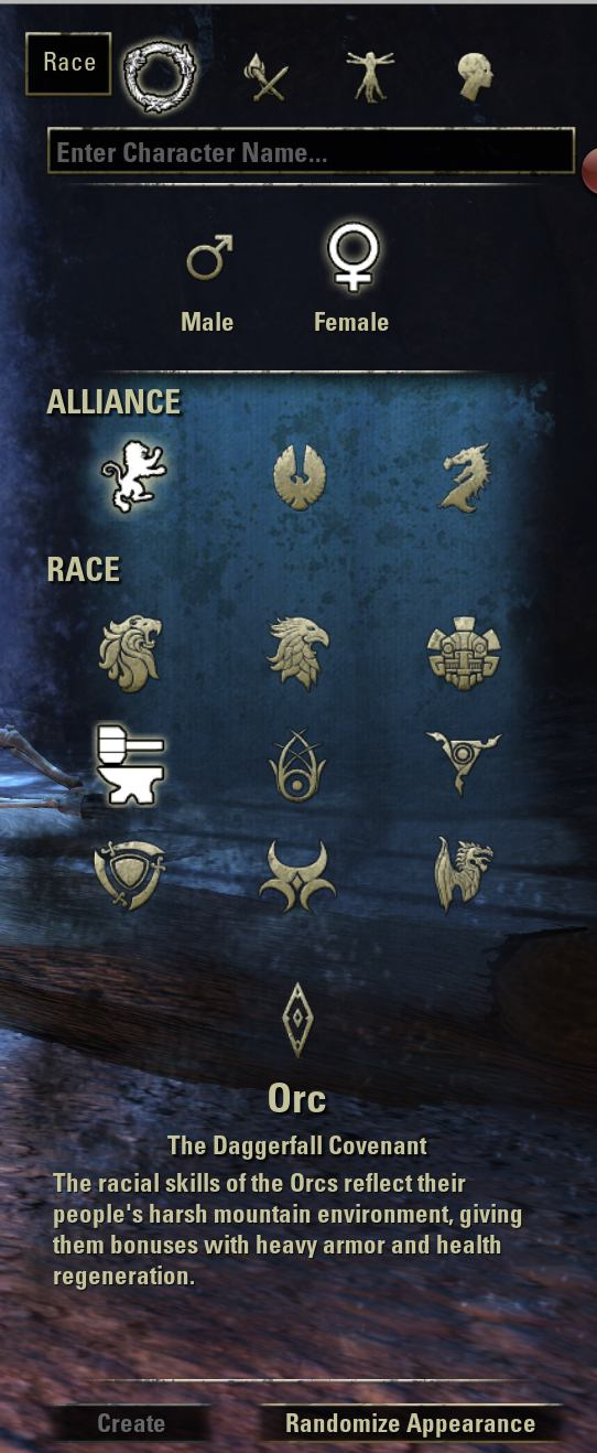 Elder Scrolls Online Imperial Race Racial and Alli...