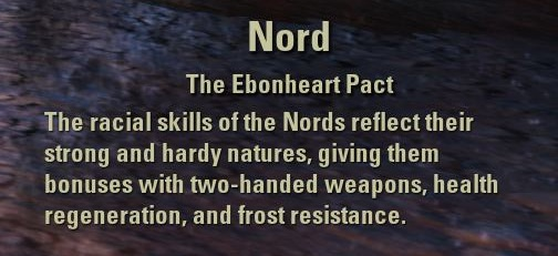 Exploring the Elder Scrolls Online - Nord Description