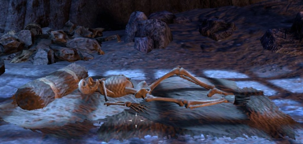 Sleeping skeleton in the wailing prison