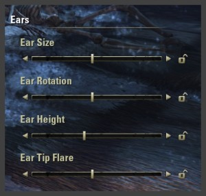 Character creation - Ear sliders
