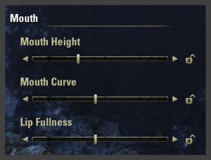 Character creation - mouth sliders